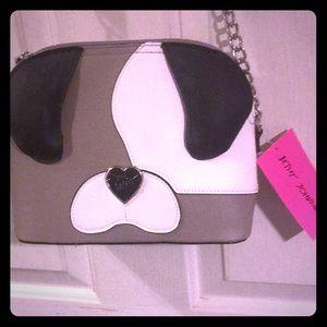 Cute Betsey Johnson dog purse! Subtle yet adorable